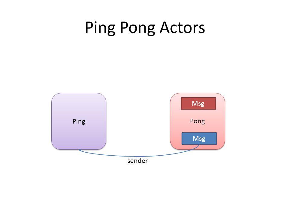 Ping Pong Msg sender Msg