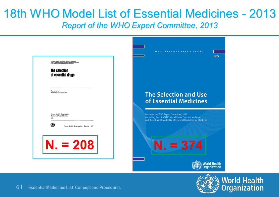 Essential Medicines List: Concept and Procedures 17 | EML and evidence: for benefits and harms GRADE … example 2