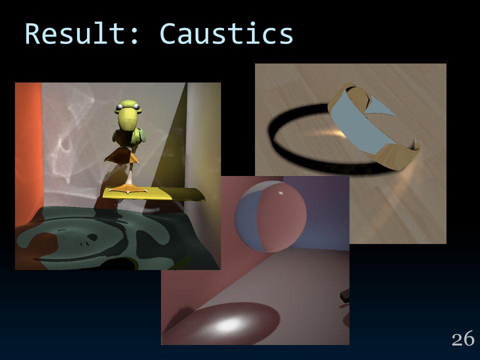 Result: Caustics 26