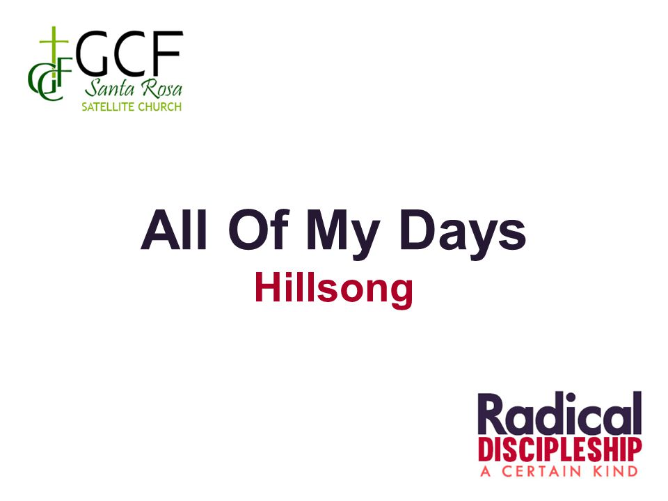 All Of My Days Hillsong