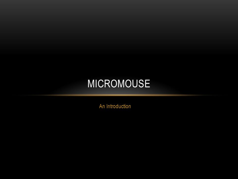 An Introduction MICROMOUSE