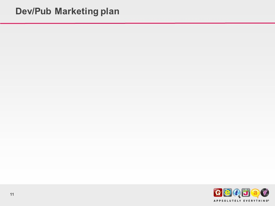 Dev/Pub Marketing plan 11