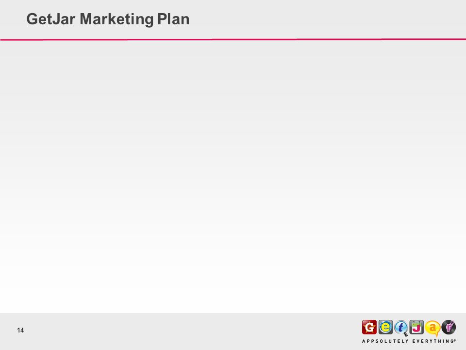GetJar Marketing Plan 14