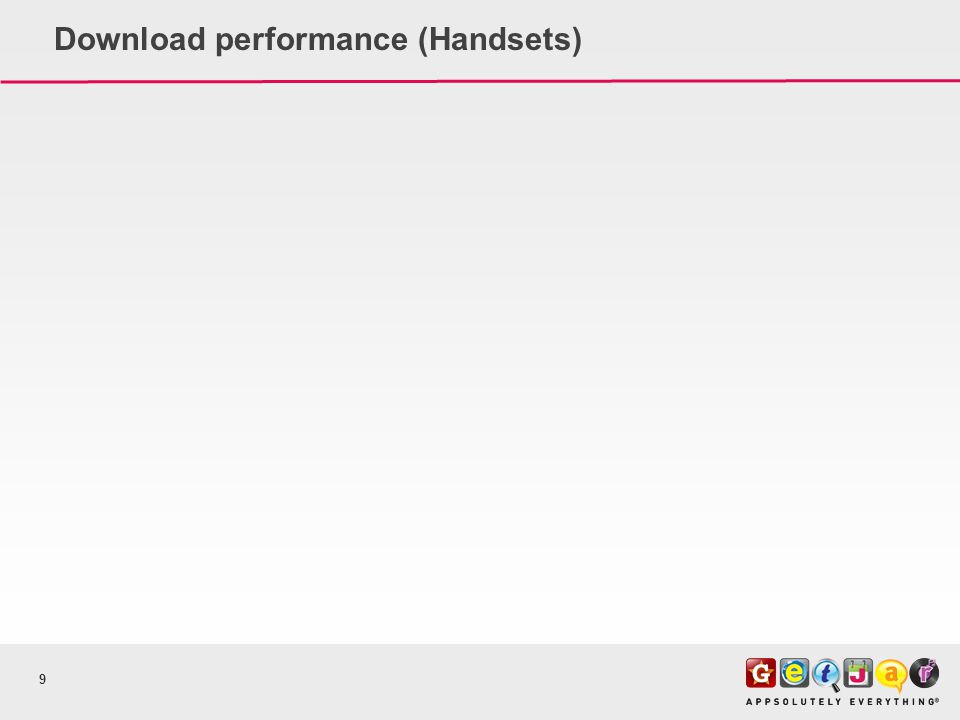 Download performance (Handsets) 9