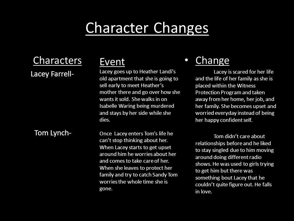 Rachel McAdams as Lacey Farrell Rachel McAdams playing Lacey Farrell just makes sense.