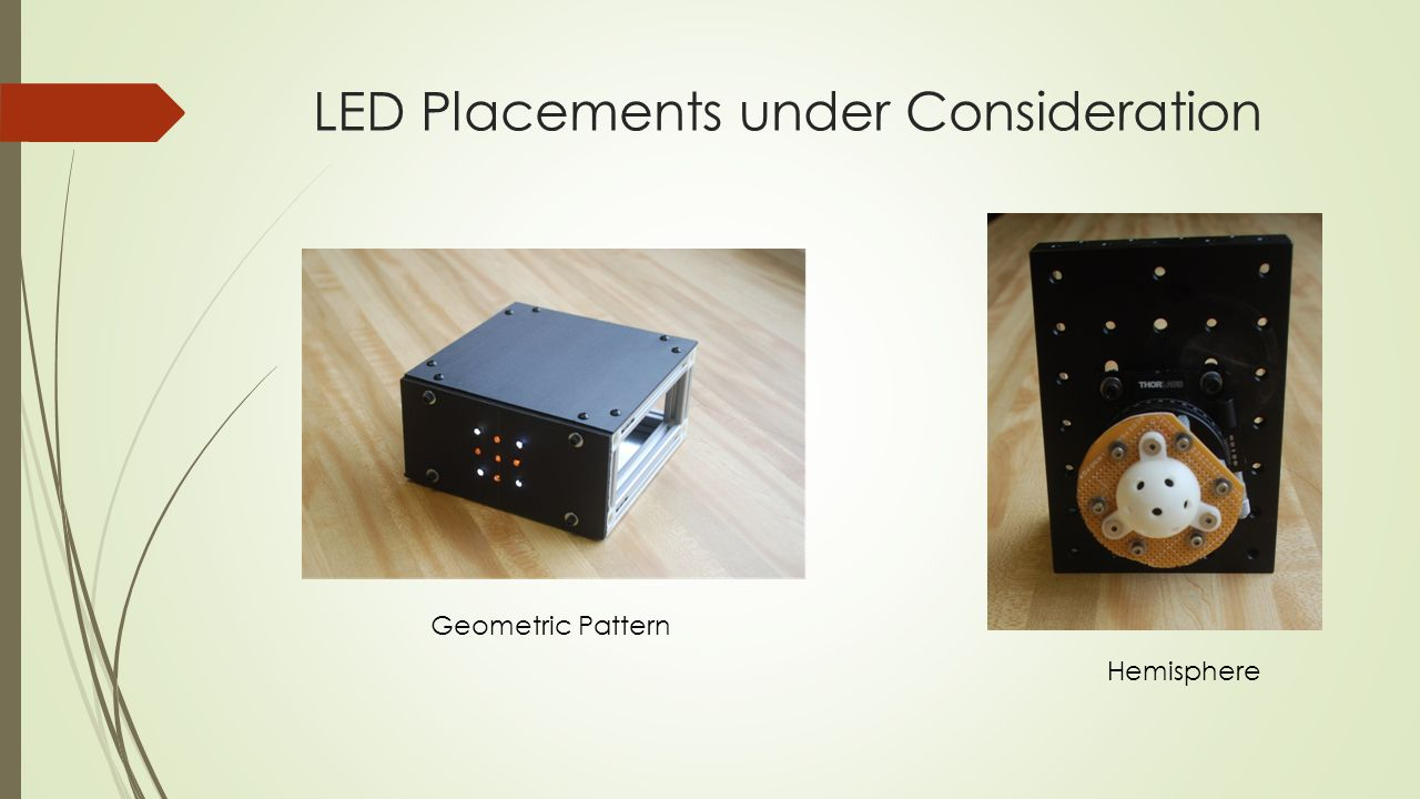 LED Placements under Consideration Geometric Pattern Hemisphere