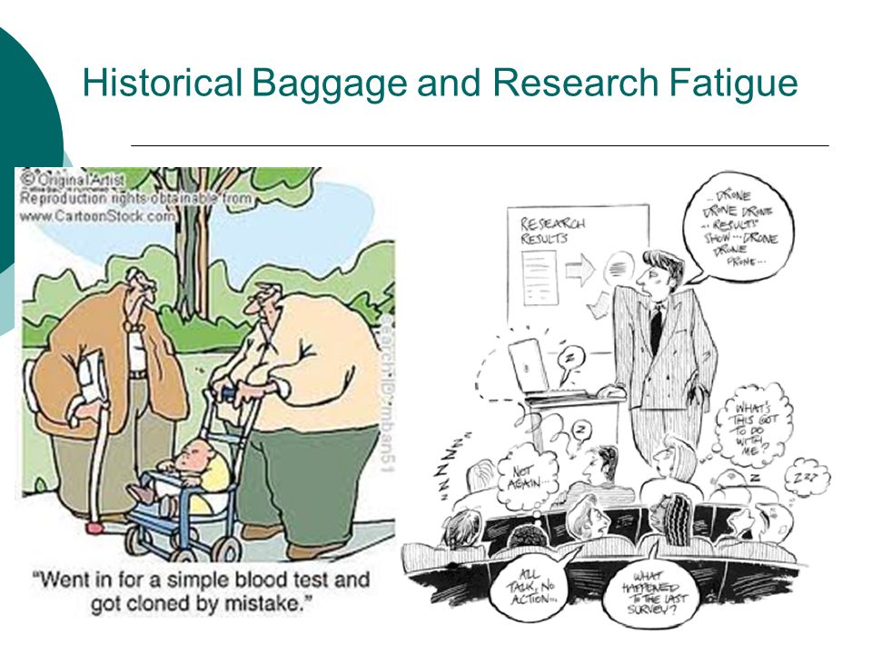Historical Baggage and Research Fatigue
