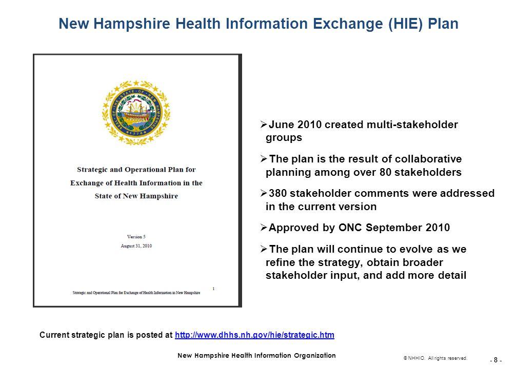 - 8 - New Hampshire Health Information Organization © NHHIO.
