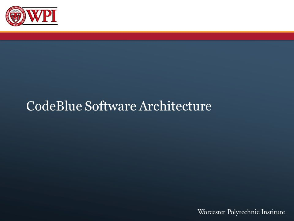 CodeBlue Software Architecture