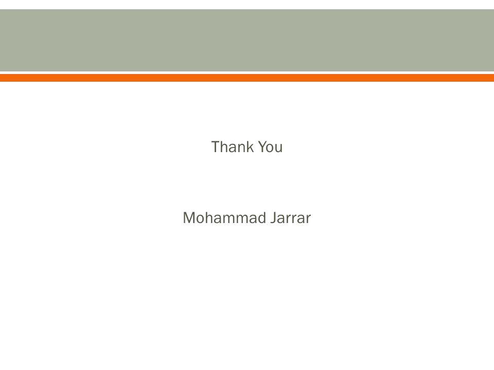 Thank You Mohammad Jarrar