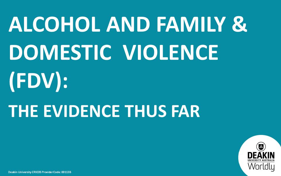 alcohol and family violence essay Family and domestic violence futures of crime and justice organised crime—volume crime reducing demand for prison crime and justice statistical monitoring.