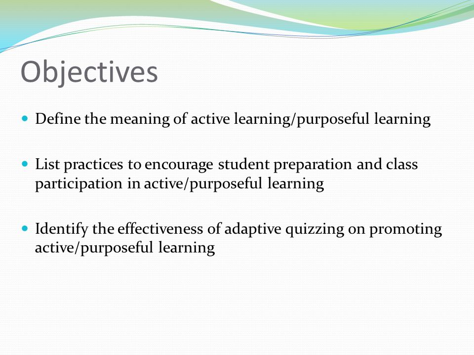 Prior to Adaptive Quizzing Reading requirements Before class preparation After class 'catch up' Misconceptions missed