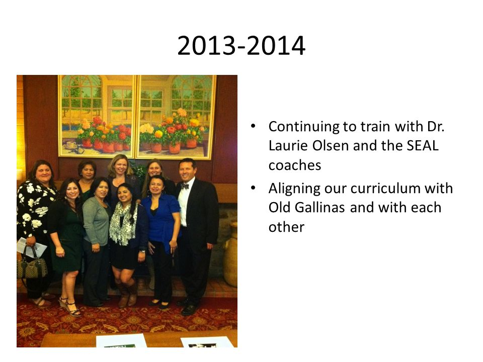 2013-2014 Continuing to train with Dr.