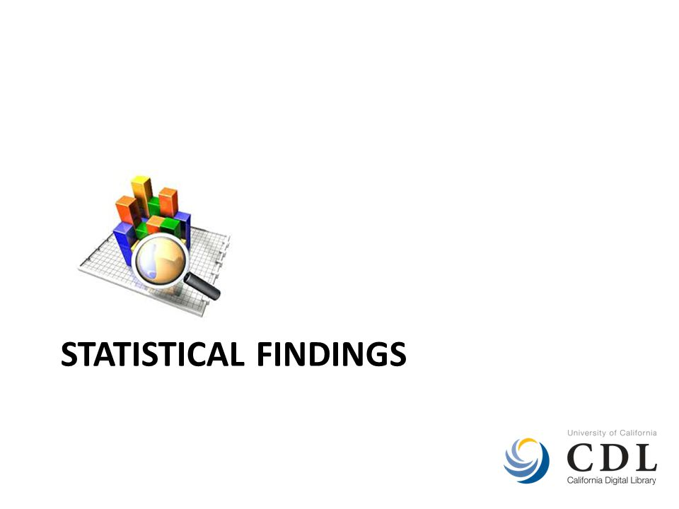 STATISTICAL FINDINGS