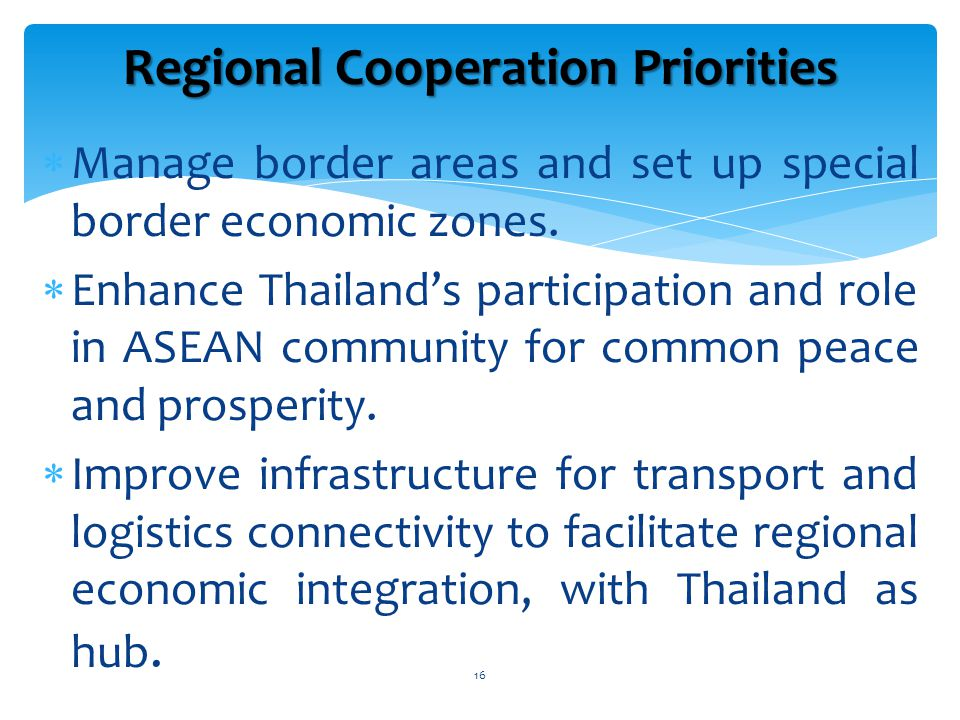  Manage border areas and set up special border economic zones.