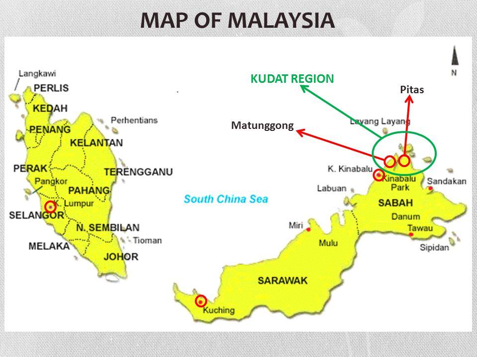 Matunggong Pitas KUDAT REGION MAP OF MALAYSIA