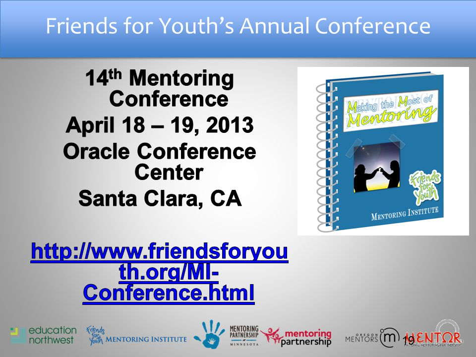 Friends for Youth's Annual Conference 19