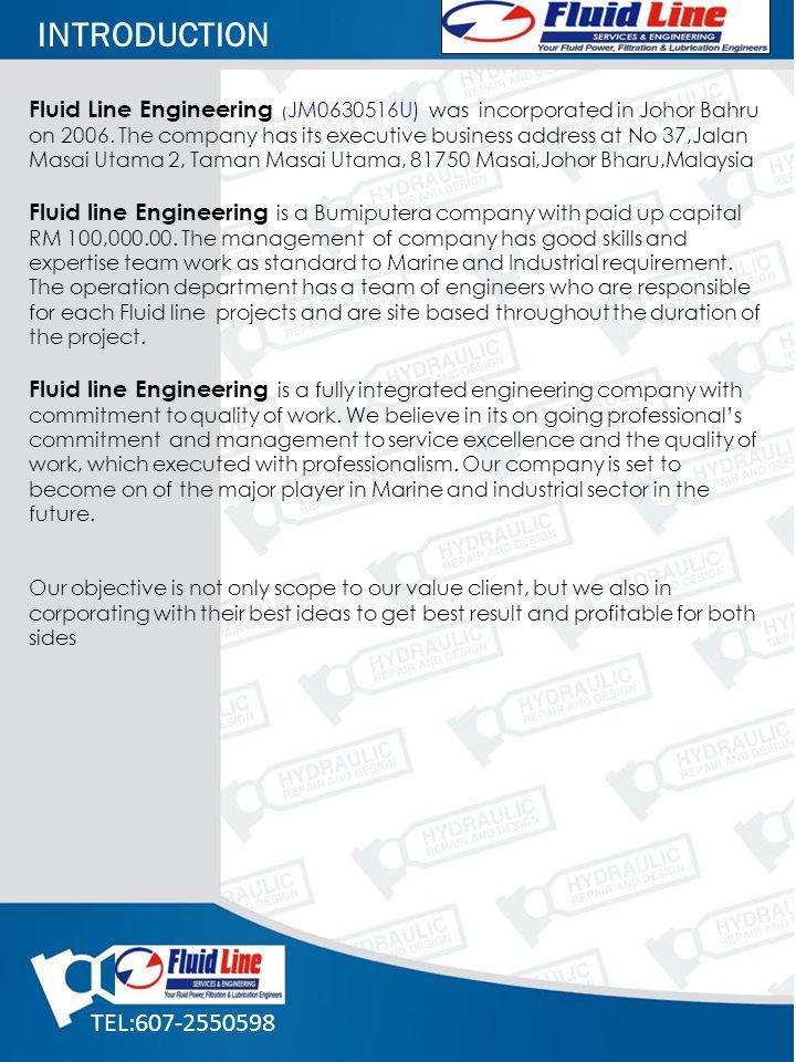 Fluid Line Engineering ( JM0630516U) was incorporated in Johor Bahru on 2006. The company has its executive business address at No 37,Jalan Masai Utam