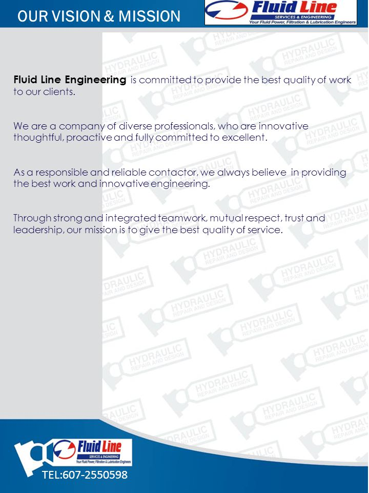 Fluid Line Engineering is committed to provide the best quality of work to our clients. We are a company of diverse professionals, who are innovative