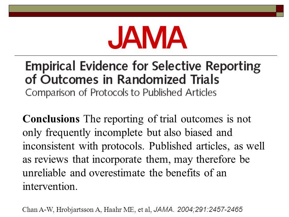 Chan A-W, Hrobjartsson A, Haahr ME, et al, JAMA.