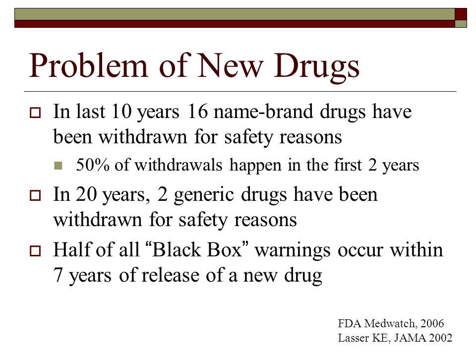 Drugs Withdrawn FDA, 2006