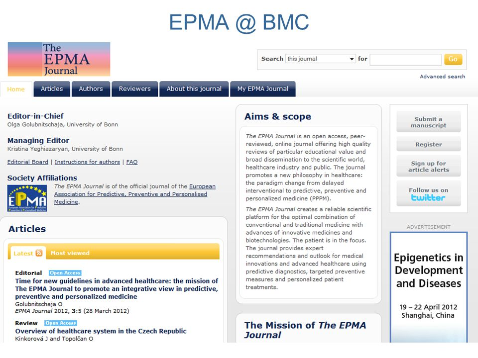 EPMA @ BMC