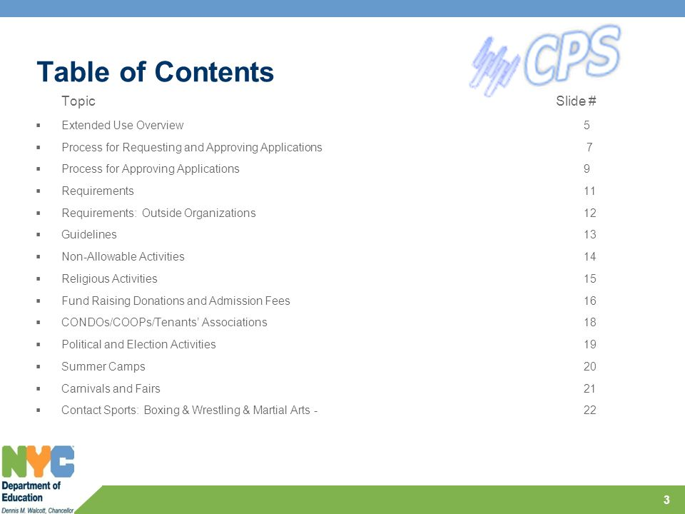 Table of Contents Topic Slide #  All Other Contact Sports: Eg.