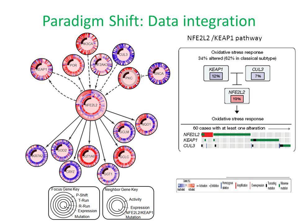 Paradigm Shift: Data integration NFE2L2 /KEAP1 pathway