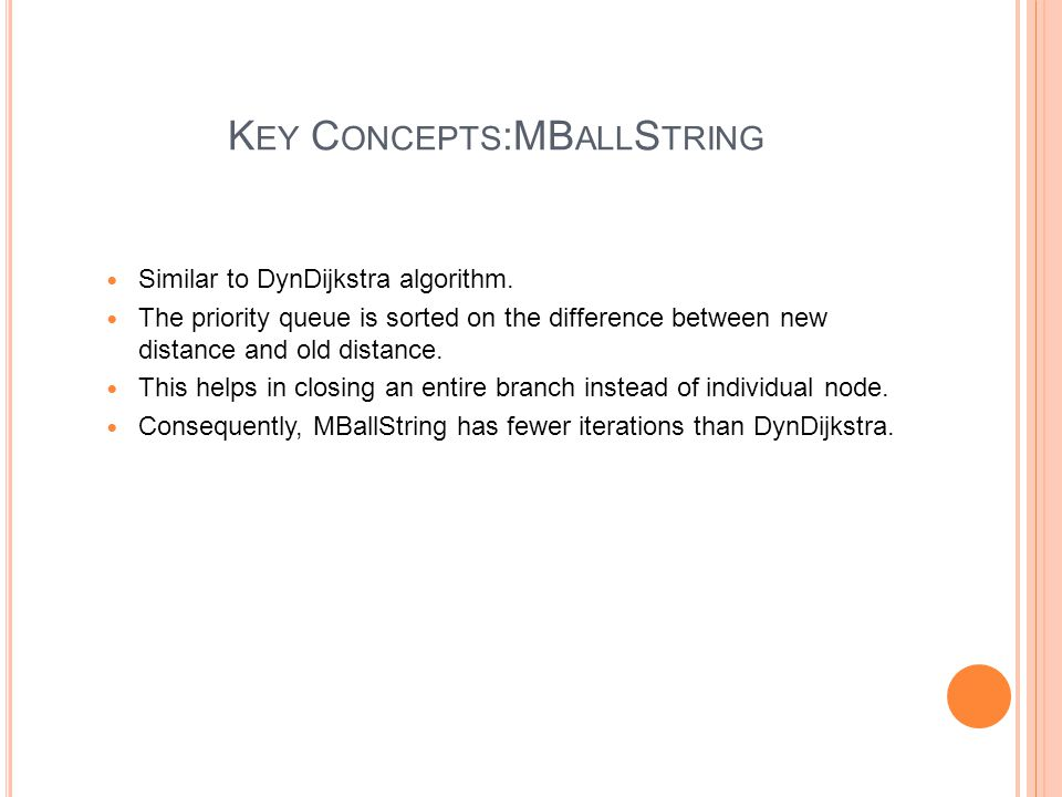 V ALIDATION M ETHODOLOGY Correctness proof of DynDijkstra and MBallStringInc algorithm.