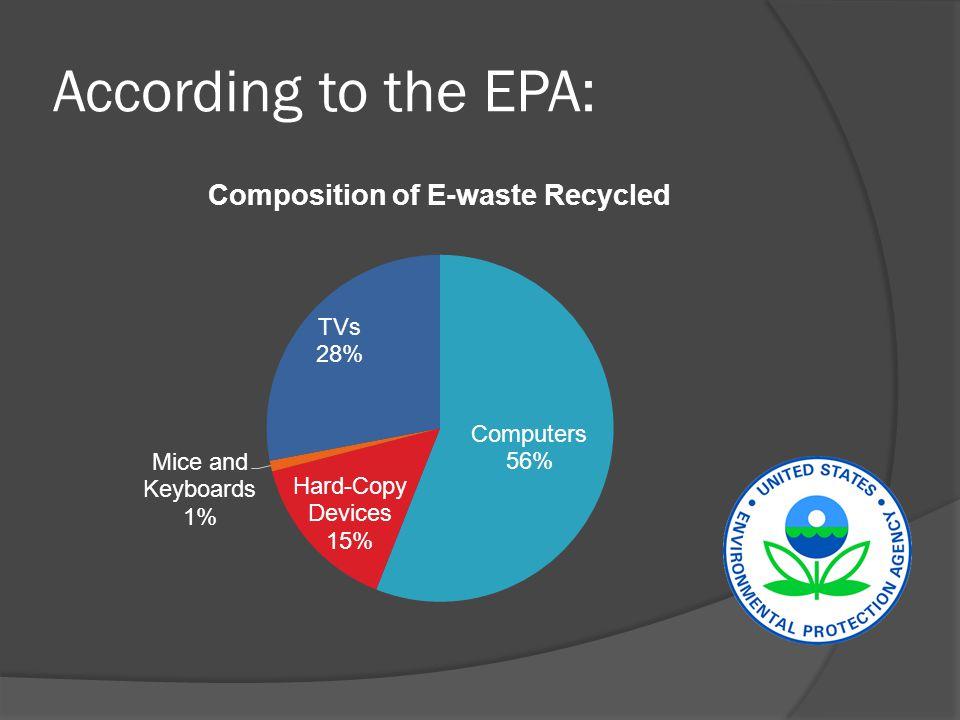 According to the EPA: