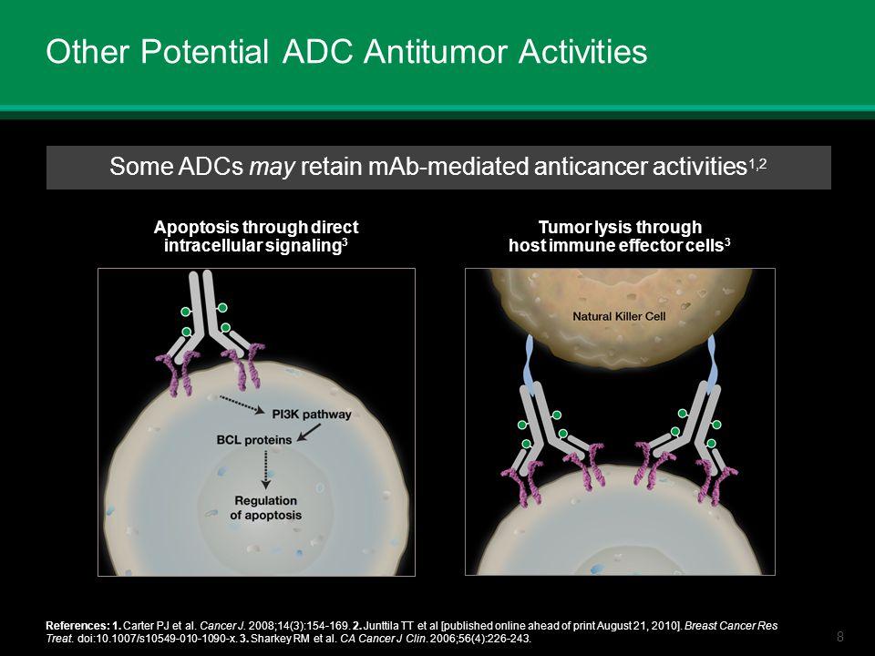 8 Other Potential ADC Antitumor Activities References: 1. Carter PJ et al. Cancer J. 2008;14(3):154-169. 2. Junttila TT et al [published online ahead