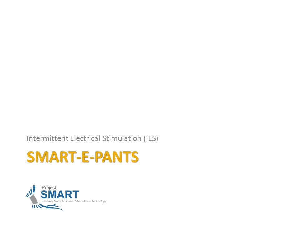 SMART-E-PANTS Intermittent Electrical Stimulation (IES)