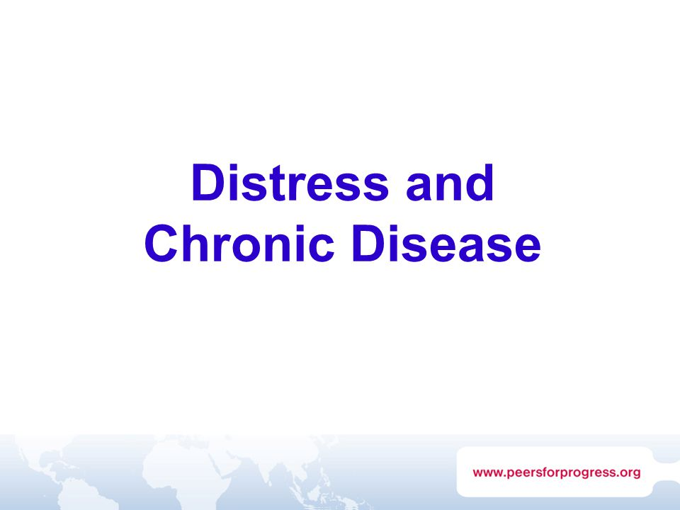 Distress and Chronic Disease