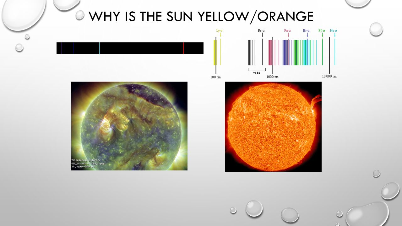 WHY IS THE SUN YELLOW/ORANGE