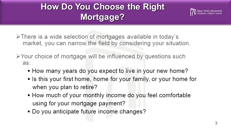 3 How Do You Choose the Right Mortgage.