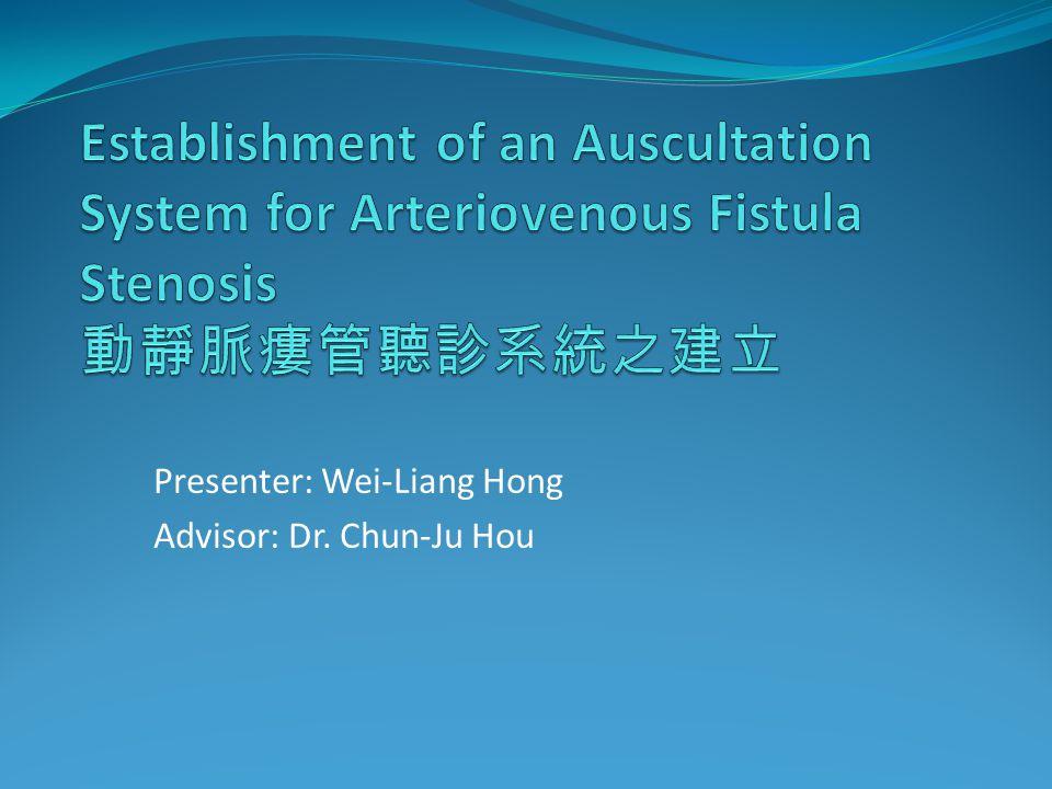 Presenter: Wei-Liang Hong Advisor: Dr. Chun-Ju Hou