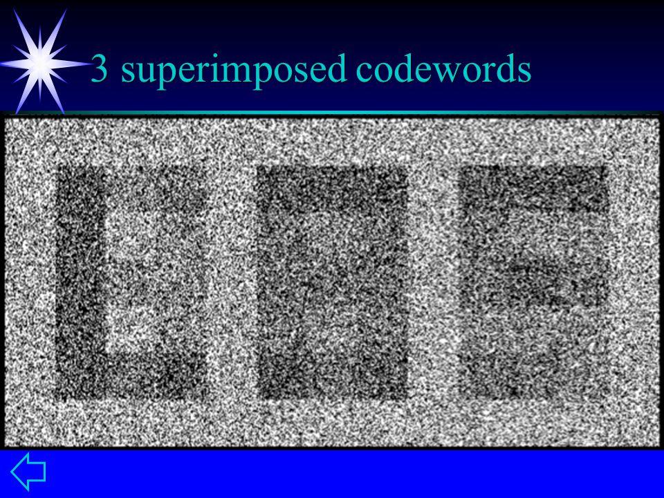 3 superimposed codewords