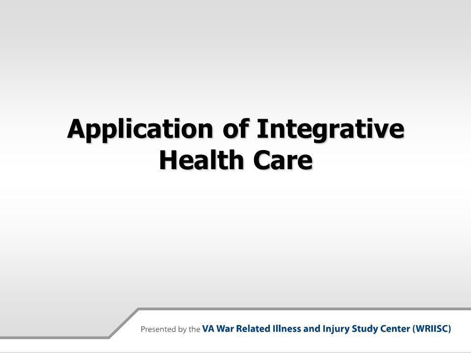 Application of Integrative Health Care