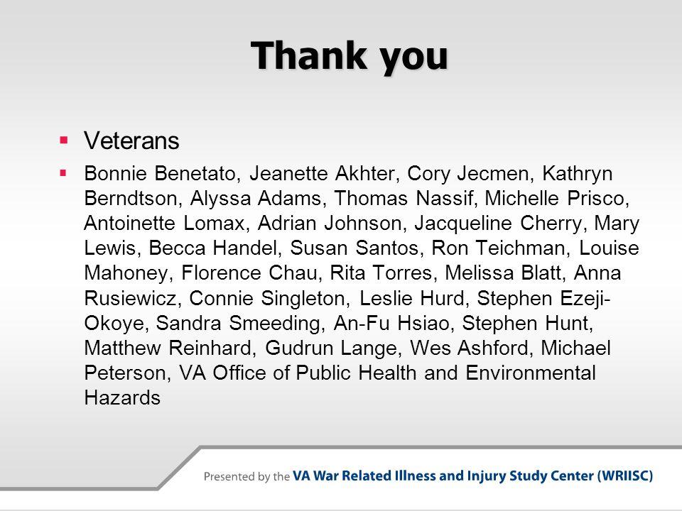 Thank you  Veterans  Bonnie Benetato, Jeanette Akhter, Cory Jecmen, Kathryn Berndtson, Alyssa Adams, Thomas Nassif, Michelle Prisco, Antoinette Loma