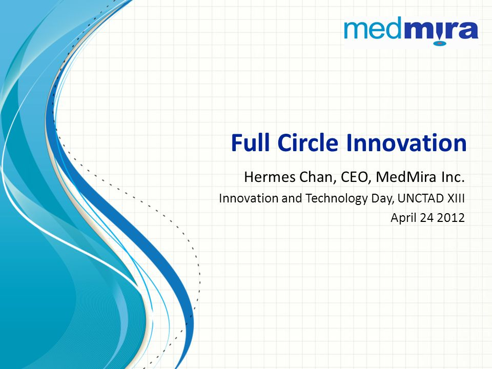 Full Circle Innovation Hermes Chan, CEO, MedMira Inc.