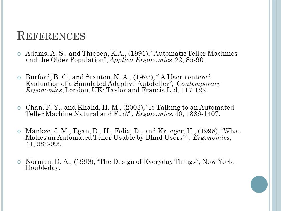 R EFERENCES Adams, A.