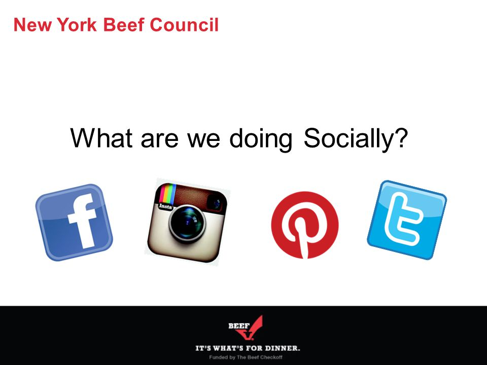 New York Beef Council What are we doing Socially?
