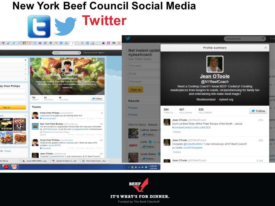 New York Beef Council Social Media Twitter