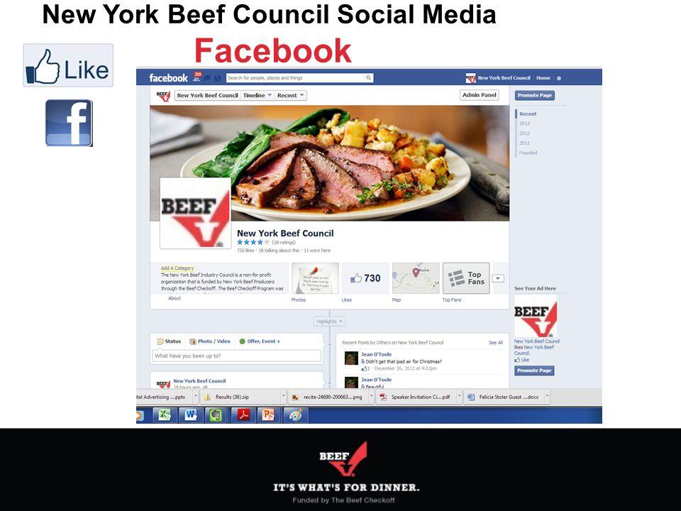 New York Beef Council Social Media Facebook