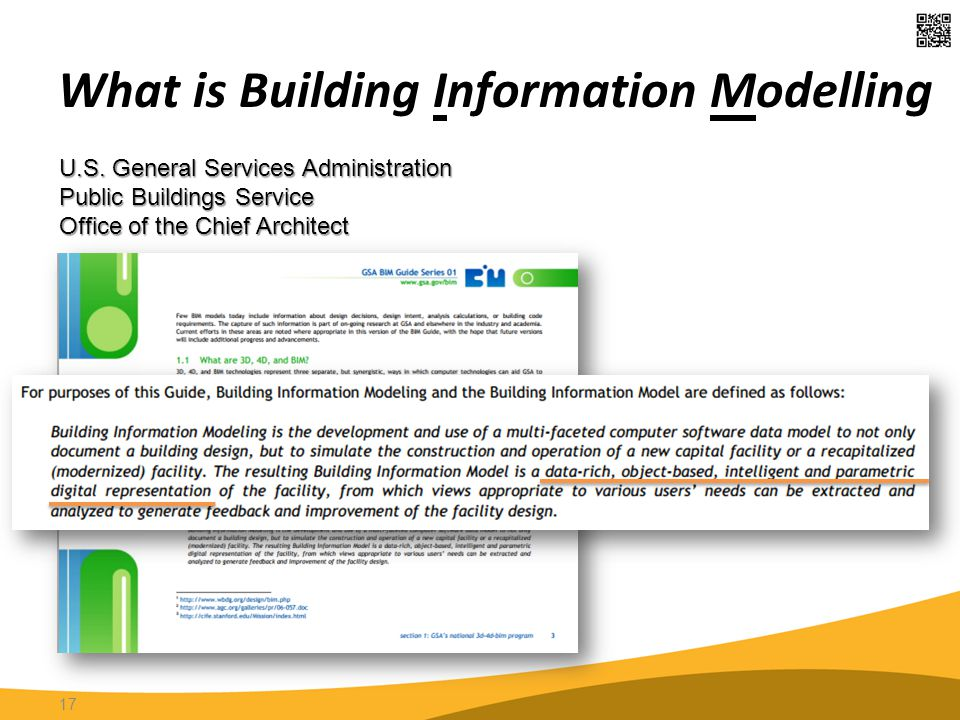 What is Building Information Modelling 17 U.S. General Services Administration Public Buildings Service Office of the Chief Architect