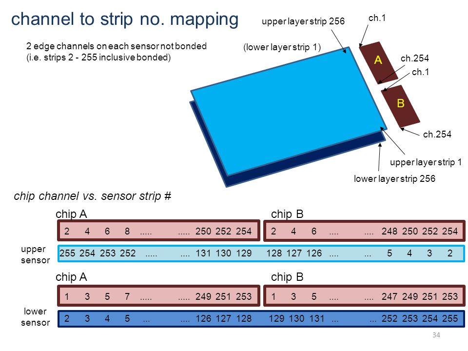 A B upper layer strip 256 (lower layer strip 1) lower layer strip 256 upper layer strip 1 ch.1 ch.254 ch.1 ch.254 2 4 6 8..........