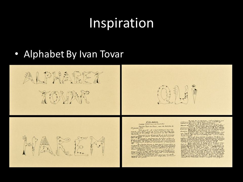 Inspiration Alphabet By Ivan Tovar