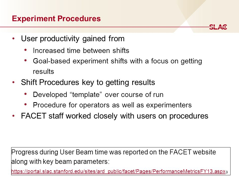 Future Schedule - FACET User Run 3 and beyond