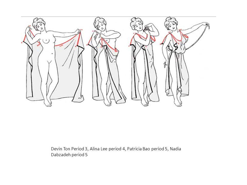 Devin Ton Period 3, Alina Lee period 4, Patricia Bao period 5, Nadia Dabzadeh period 5