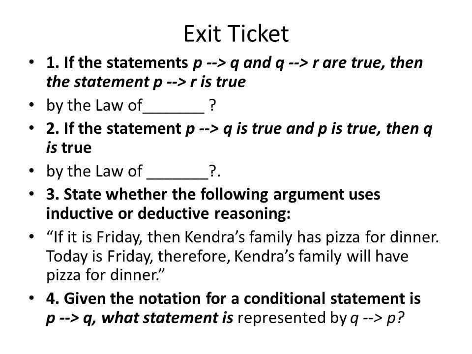 Exit Ticket 1.
